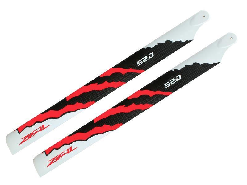ZEAL Carbon Fiber Main Blades 520mm Energy (Neon Orange)