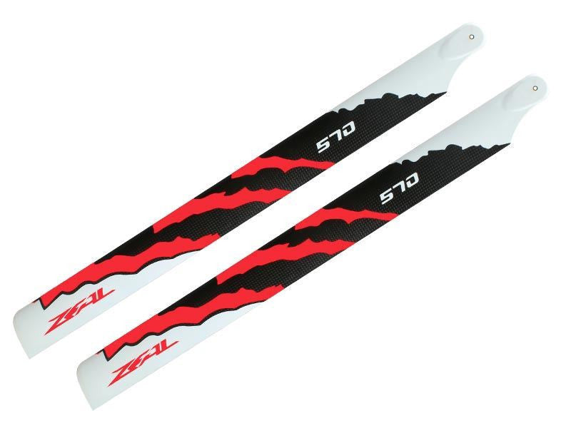 Zeal Carbon Fiber Main Blades 570mm