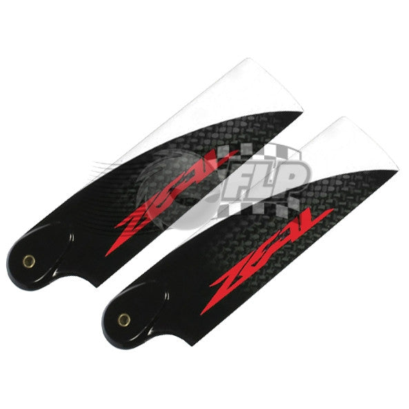 ZEAL Carbon Fiber Tail Blades 92mm (Neon Orange)