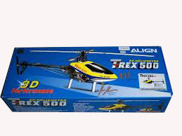 T-REX500EP CF (Yellow/Red Fiberglass Canopy)