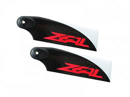 Carbon Fiber Tail Blades 110mm (Neon Orange)
