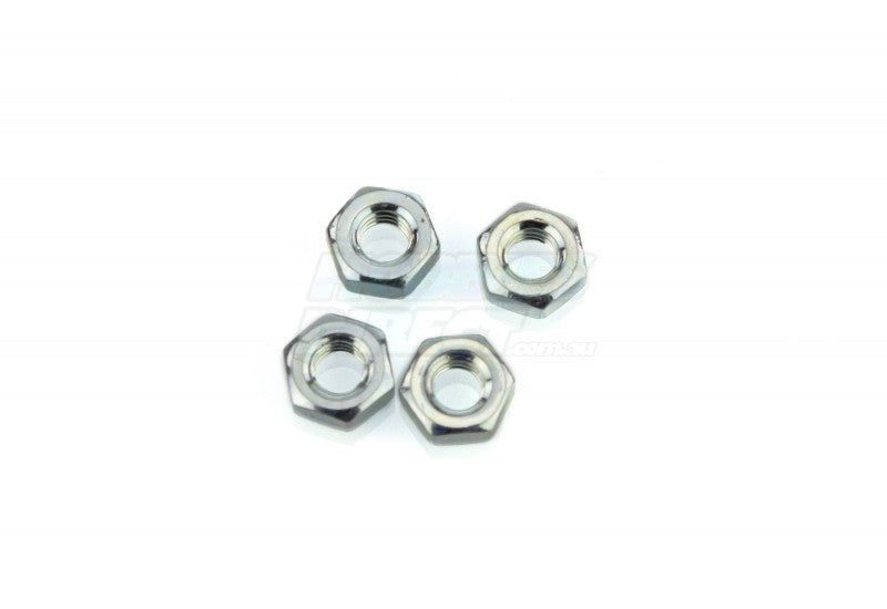 4mm Silver Nuts