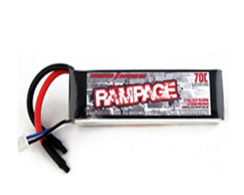 5000mAh 2-Cell/2S 7.4V 70c Rampage