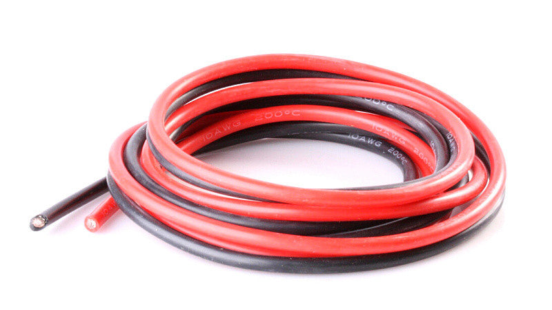 Red & Blk Silicone Wire 10AWG 0.06