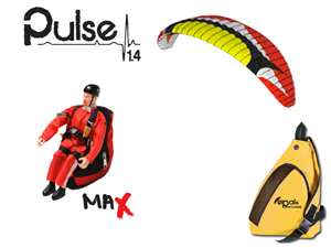 RC Paraglider - Kit Pulse 1.4 Red