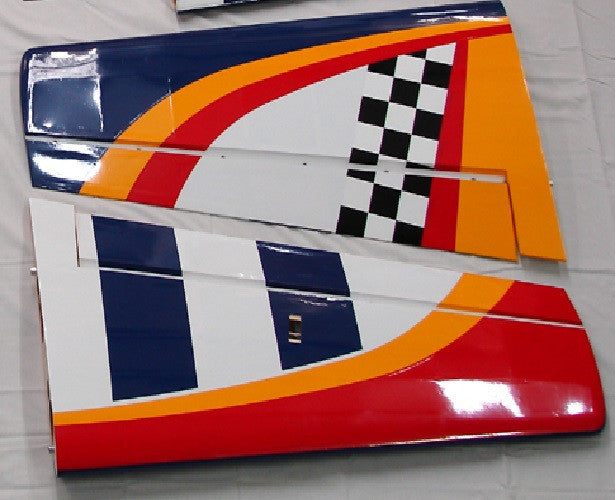50cc YAK 54 QB ARF Wing Set - Red Leading Edge