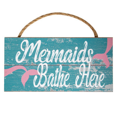 Mermaids Bathe Sign