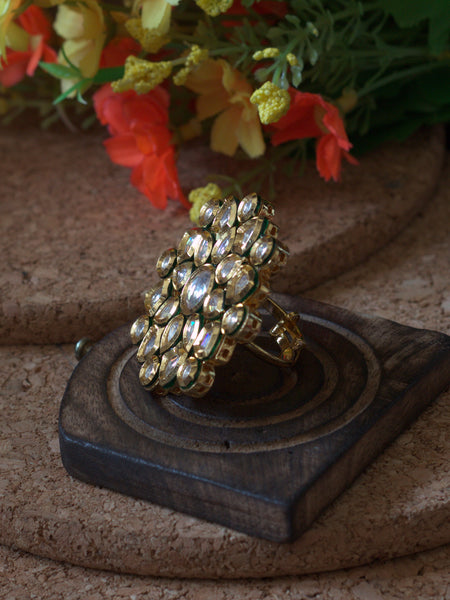 Big Kundan Ring