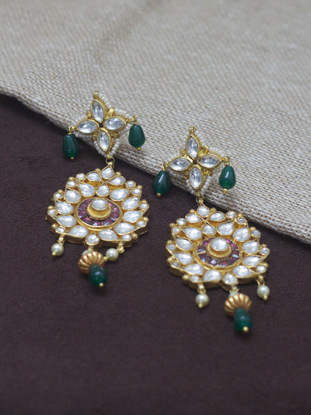 Jadau Earrings