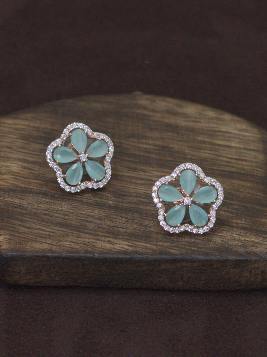 Flower Earrings(Rosegold)