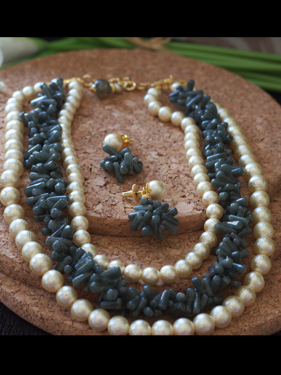 Rutile Pearl Necklace