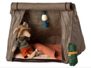 Maileg Mouse Tent - Green with Check Blanket
