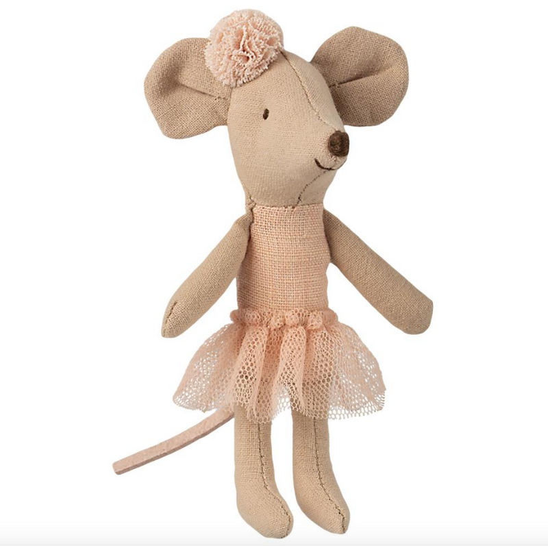 Maileg Little Sister Ballerina Mouse with Pompom