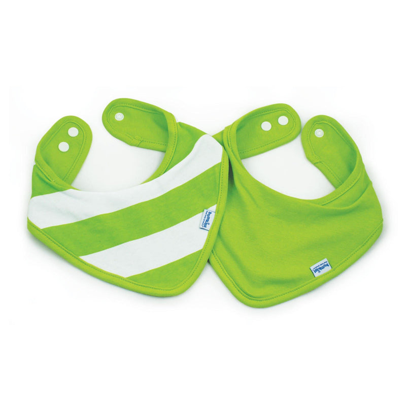 Bandana Waterproof Bibs - Green Stripe - Simply Green Baby