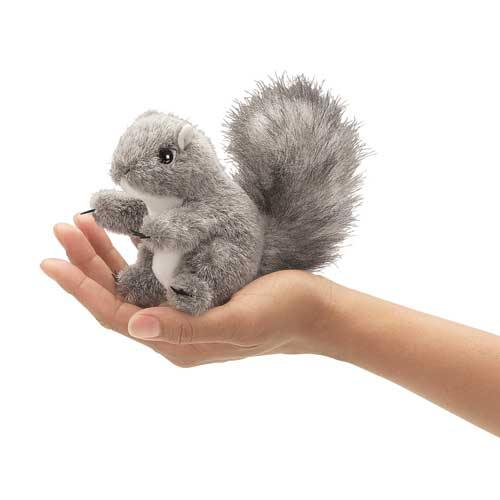 Folkmanis Finger Puppet - Grey Squirrel - Simply Green Baby