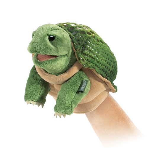 Folkmanis Little Puppet - Turtle - Simply Green Baby