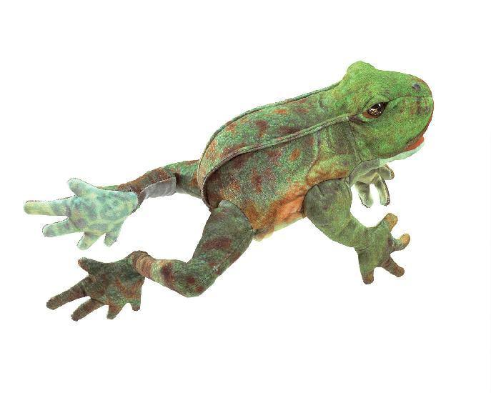Folkmanis Puppet - Jumping Frog - Simply Green Baby
