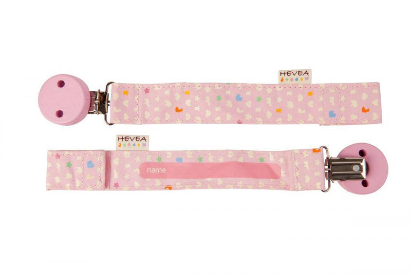 Hevea Organic Pacifier Holder - Pink - Simply Green Baby