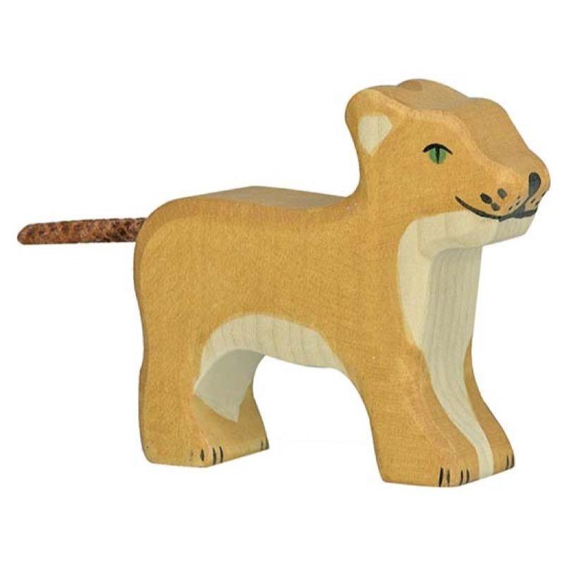 Holztiger - Lion, Small, Standing - Simply Green Baby