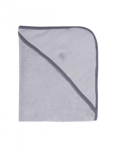 Imps + Elfs Organic Hooded Towel - Grey - Simply Green Baby