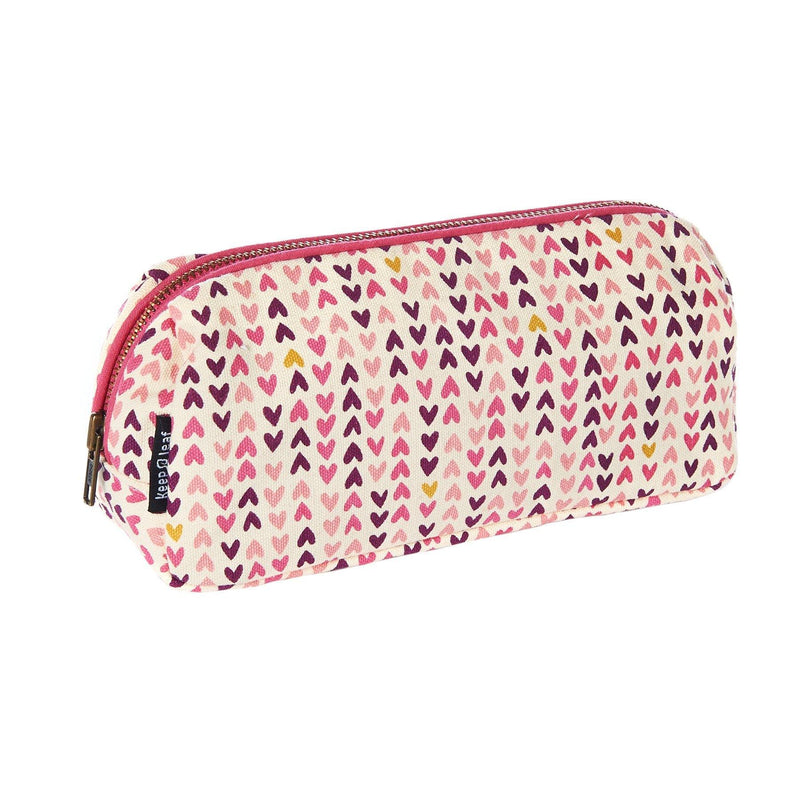 Keep Leaf Organic Make Up - Pencil Case - Hearts - Simply Green Baby