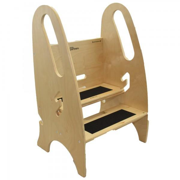 Little Partner 3-in-1 Growing Step Stool - Natural - Simply Green Baby