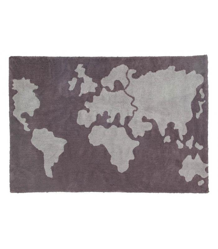Lorena Canals Rug - World Map - Simply Green Baby