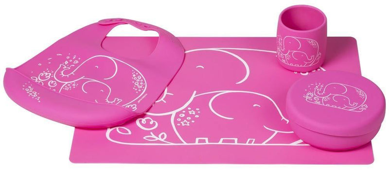 Modern Twist Munch Mate - Pink Elephant - Simply Green Baby