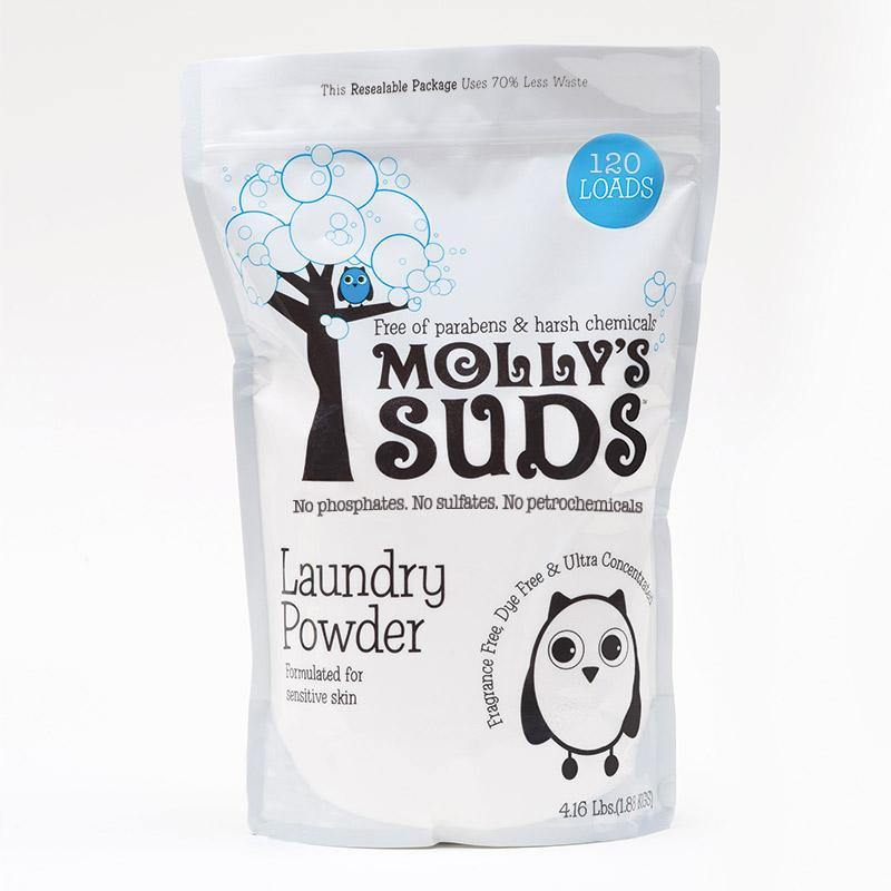 Molly's Suds Laundry Powder 120 Loads - Peppermint - Simply Green Baby