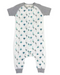 Nest Designs Bamboo Short Sleeve Sleep Suite 0.6 Tog - Peacock Parade - Simply Green Baby