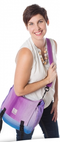 Organic Carry-On Diaper Bag - Amethyst - Simply Green Baby