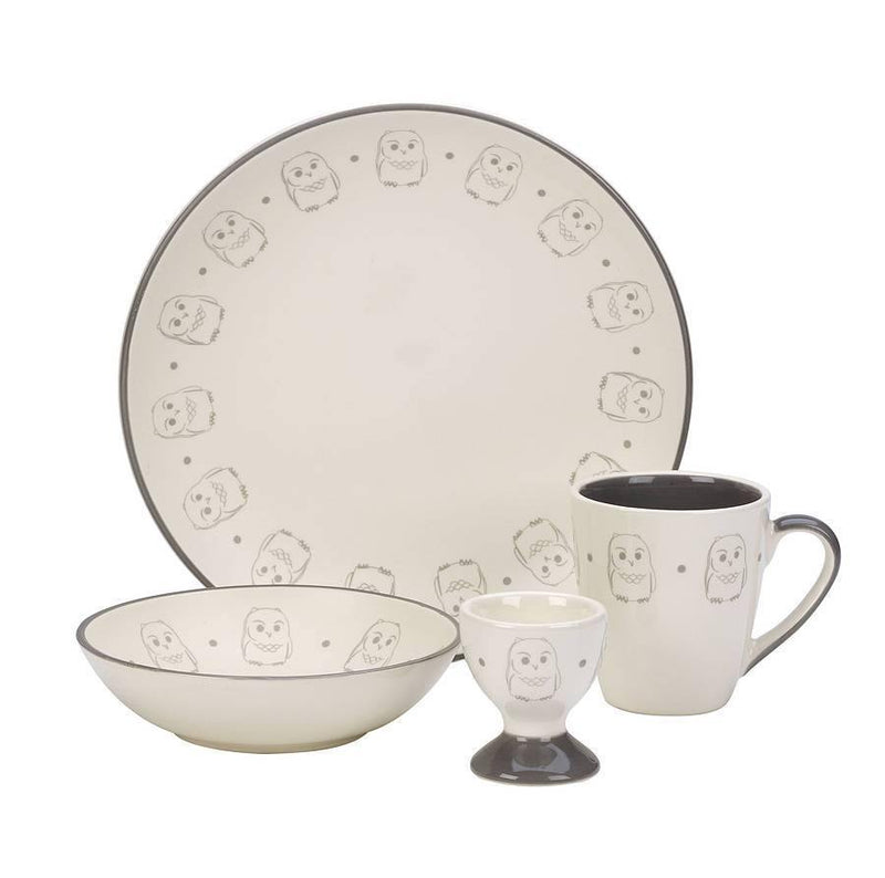 Owl Crockery Set - Simply Green Baby