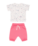 Petit Lem Organic Short Set - Water Drop Pink - Simply Green Baby