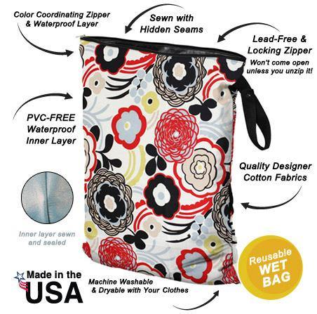 Planet Wise Large Wet Bag - Oasis Performance - Simply Green Baby