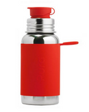Pura Stainless Big Mouth Sport 18 oz Bottle - Red - Simply Green Baby