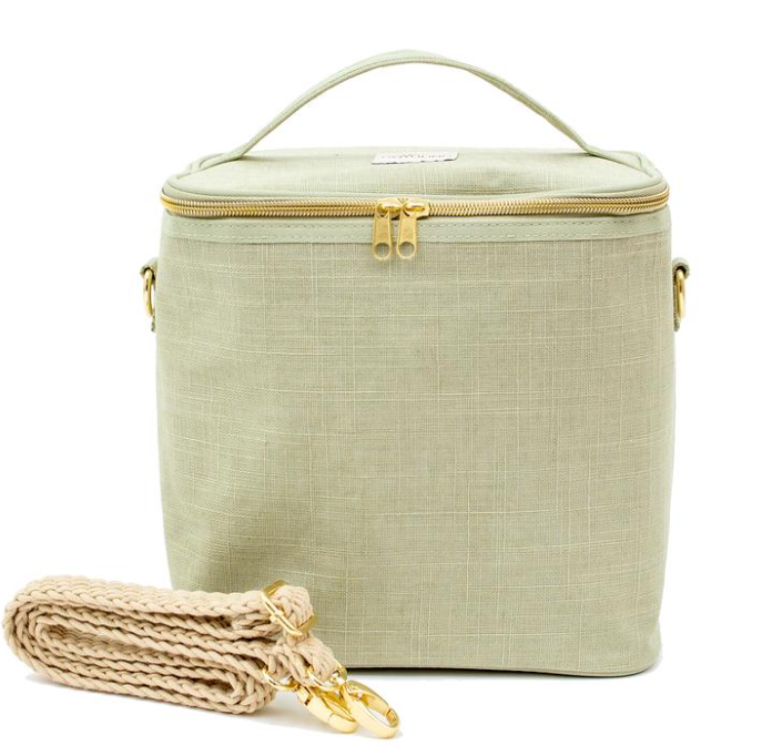 SoYoung Linen Poche - Sage Green