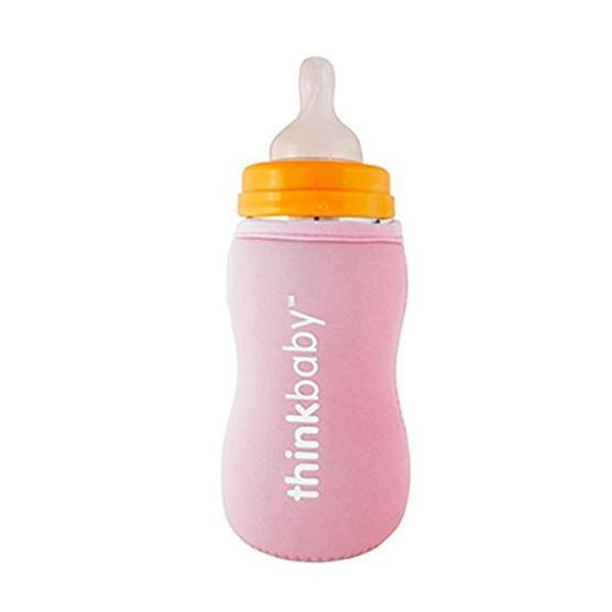 Thinkbaby Limestone Thermal Bottle Sleeve - Pink - Simply Green Baby
