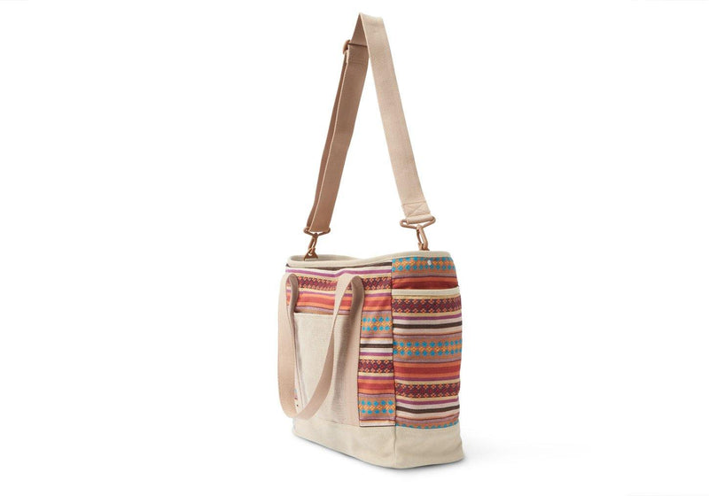 Toms Diaper Bag - Cayenne Multi Stripe Baby Tote - Simply Green Baby