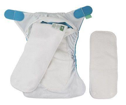 TotsBots Easy Fit - Blue Moo - Simply Green Baby