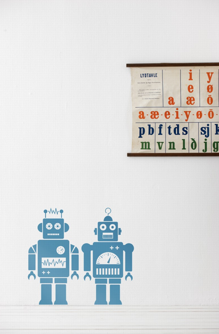 Wallsticker - Robots - Simply Green Baby