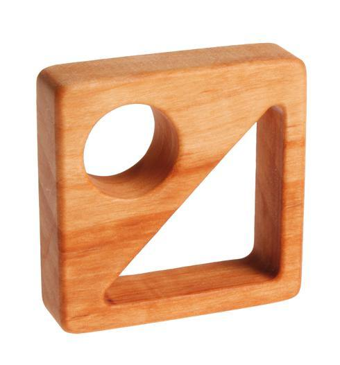 Wooden Grasping Toy Geometric Forms - Simply Green Baby