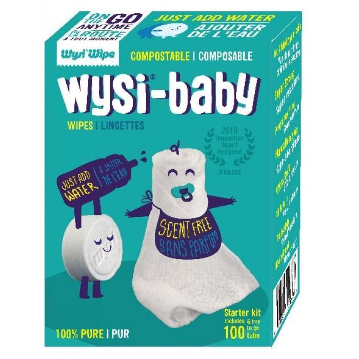 Wysi Baby Wipes - 100 Pack - Simply Green Baby