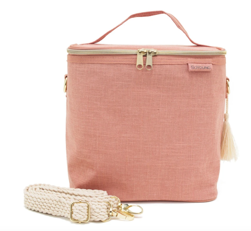 SoYoung Linen Lunch Poche - Muted Clay