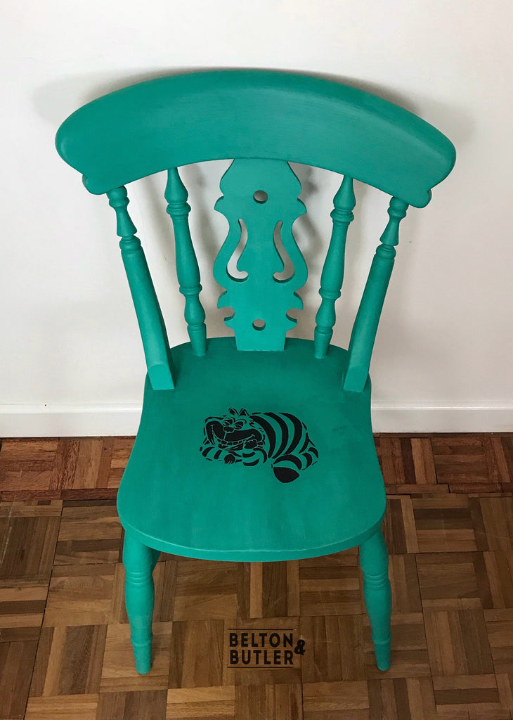 Bright Multi Coloured Dining Table And Chair Set Alice In Wonderland Belton Butler