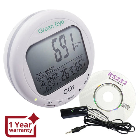 Co98 Co2 Data Logger Temperature Humidity Monitor 9999Ppm Loggers