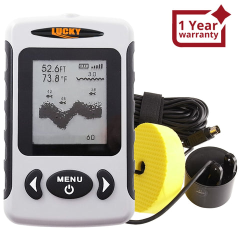 Ff-718 Lucky Wired Water Resistant (100M/ 328Ft Depth) Professional Fish Finder With Alarm Sonar
