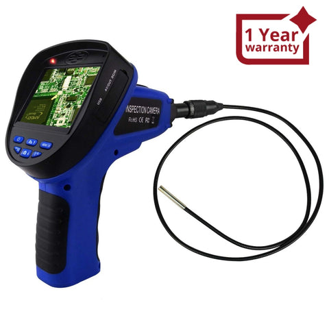 C0599E-5530L1 Industrial 3.5inch LCD 5.5mm Camera Video Inspection 6 LED Lights Borescope Endoscope - Gain Express