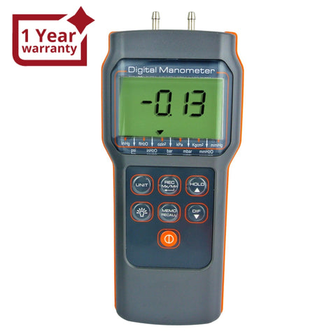 82152 Digital Differential Air Pressure Manometer 15.000psi Gauge High Accuracy Portable Meter HVAC Test Tool