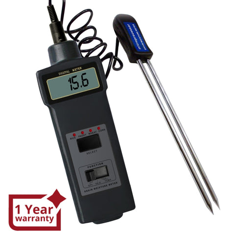 Mc-7821 4-Type Grain Moisture & Temperature (Celsius Fahrenheit) Meter