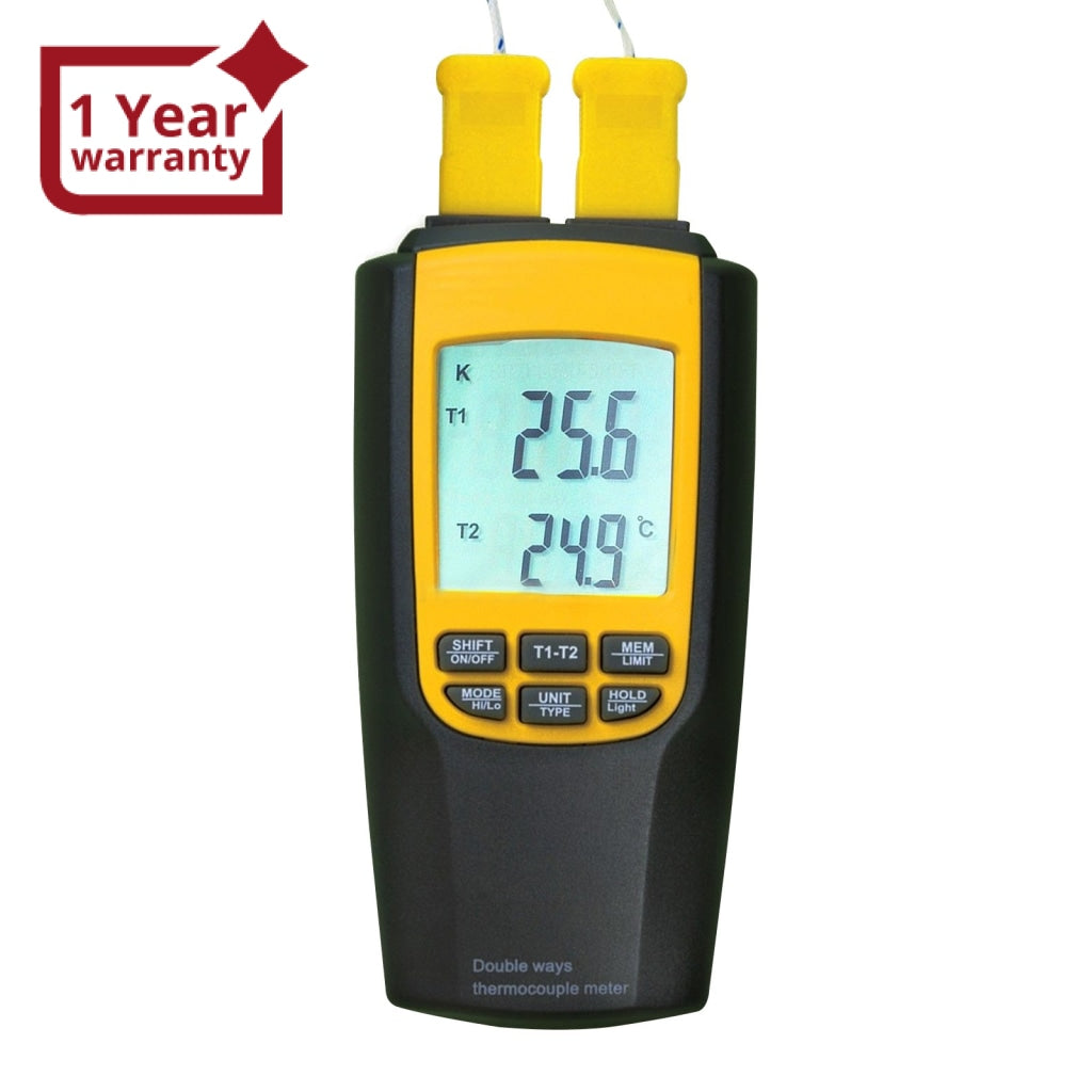 VA-8060 Digital K or J Type Thermometer Thermocouple with 4 Probes Large  LCD Display Meter Tester Backlight